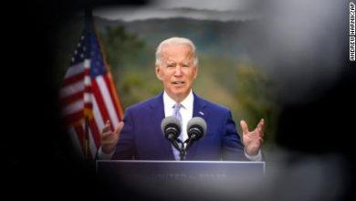 Photo of Biden on edge of presidency