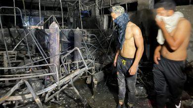 Photo of Bagdad hospital fire leaves 82