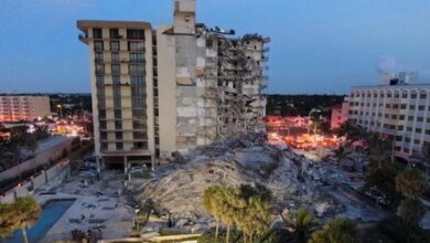 Photo of Florida condo collapsed leaves handreds