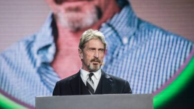 Photo of McAfee founder death in jail