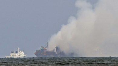 Photo of Sri Lanka ship fire extinguished