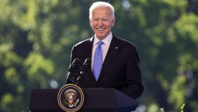 Photo of Biden celebrates pandemic victory