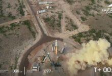 Photo of Jeff Bezos blasts into space
