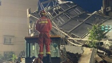 Photo of China hotel collapsed
