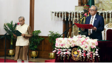 Photo of Prof Shamsul sworn-in as state minister
