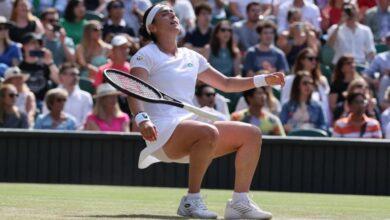 Photo of Jabeur marks Wimbledon landmark