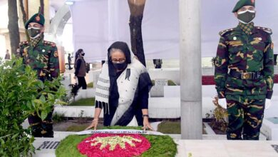 Photo of PM pays homage to Bangabandhu