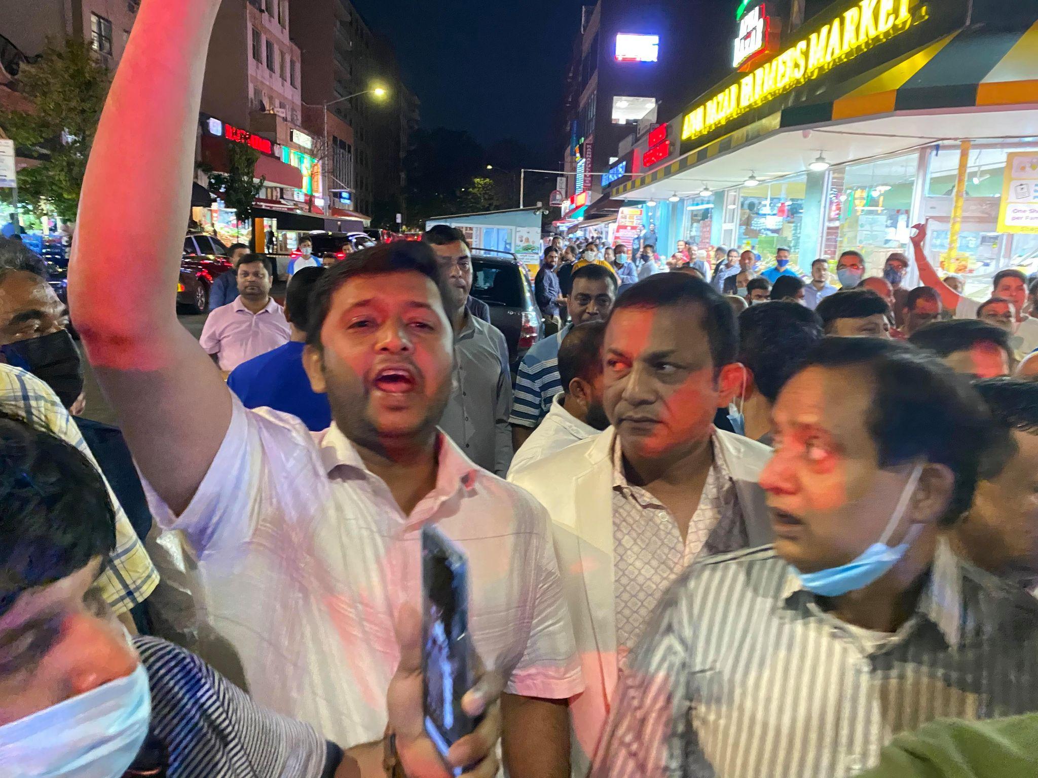 Awami League-BNP Clash In New York city