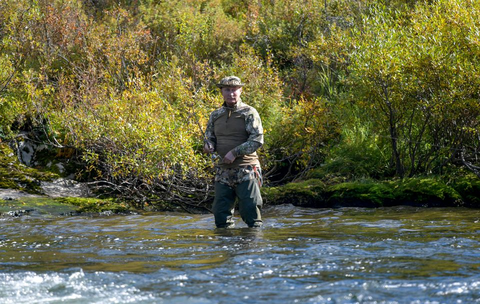 Putin spent several days hiking and fishing in Siberia