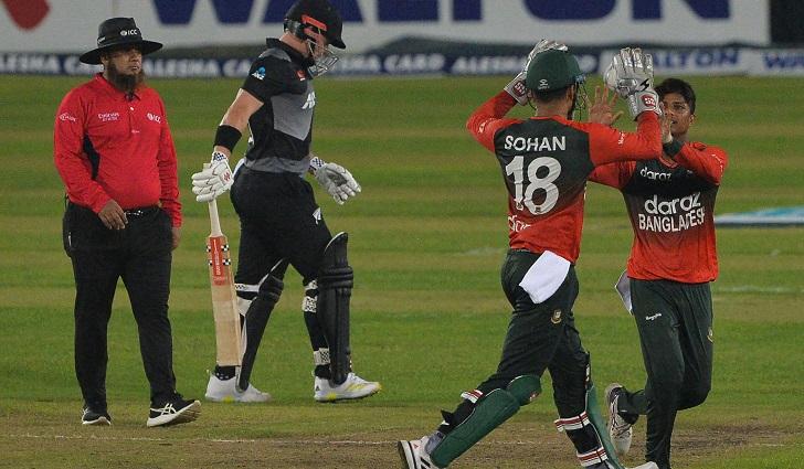 Bangladesh beat New Zealand by 4 runs