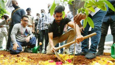 Photo of Aamir Khan took part in 'Green India Challenge'