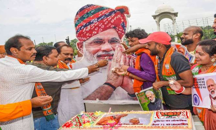 Modi's birthday is celebrated all over India