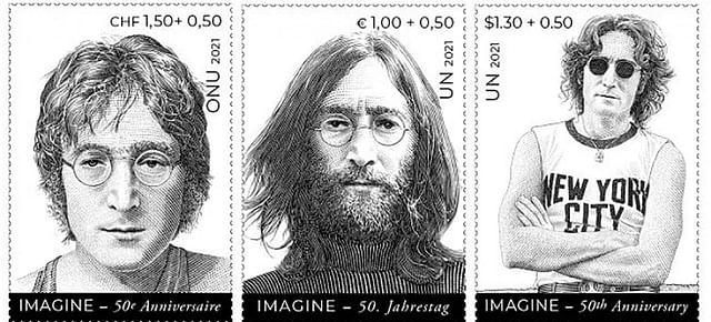 New UN stamps, souvenir sheets pay tribute to John Lennon, 'Imagine'
