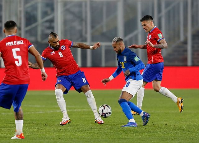 Ribeiro's second-half goal gives Brazil win over Chile