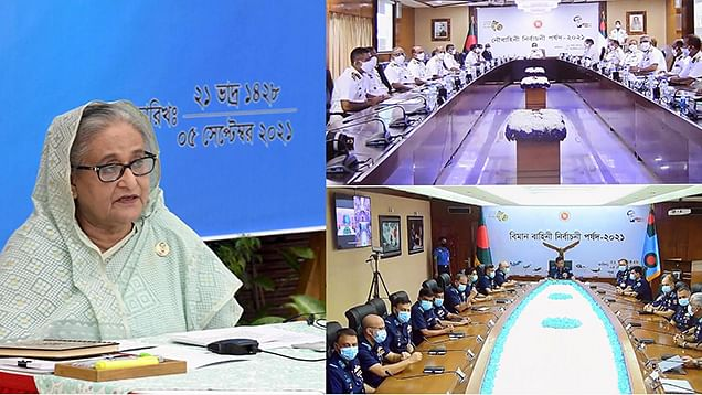 Always stay ready to defend country: PM Hasina to Armed Forces