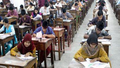 Photo of DU 'Ga' unit admission test today
