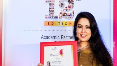 """Photo of Sharmin Zaman of SUMMIT honored with the """"Asia's Woman Leaders"""" Award"""
