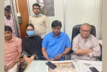 Photo of Rizvi at the party office after 6 months and 21 days